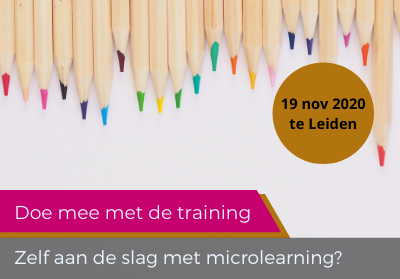 Training: Maak je eigen microlearning
